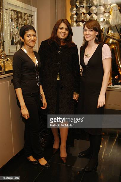 Aldona Livero Nalini Singh and Melanie Love attend ROBERT LEE MORRIS Warhol Factory X Collection Preview at The Robert Lee Morris Gallery on December...