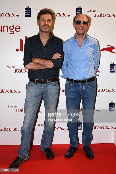Ale Franz attend the Italo lounge opening at Central Station on July 6 2016 in Milan Italy