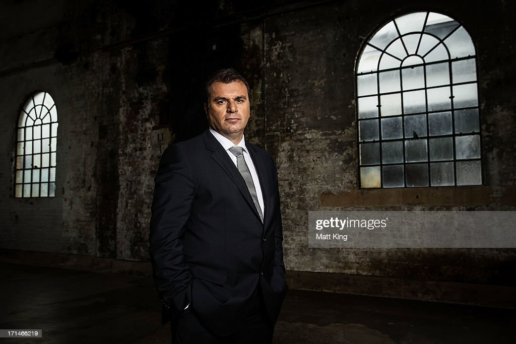 A-League All Stars coach Ange Postecoglou poses during the A-League All Stars jersey launch at Carriageworks on June 25, 2013 in Sydney, Australia.