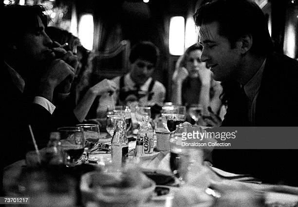Alec and Billy Baldwin celebrate new year's eve at The Russian Tea Room on December 31 1988 in New York City