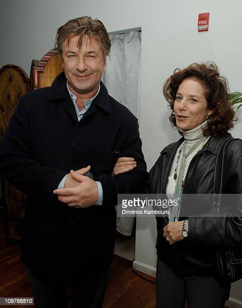 Alec Baldwin and Debra Winger during 13th Annual Hamptons International Film Festival Opening Night Party at Gurney's Inn in Montauk New York United...