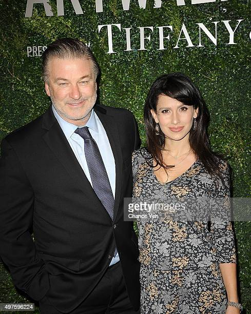 Alec Baldwin and Hilaria Baldwin attend Artwalk NY 2015 at Metropolitan Pavilion on November 17 2015 in New York City