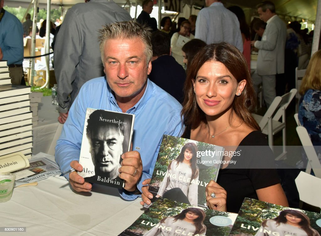 Alec Baldwin and Hilaria Baldwin attend Authors Night 2017 At The East Hampton Library at The East Hampton Library on August 12, 2017 in East Hampton, New York.