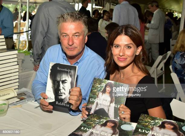 Alec Baldwin and Hilaria Baldwin attend Authors Night 2017 At The East Hampton Library at The East Hampton Library on August 12 2017 in East Hampton...