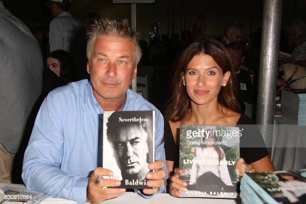 Alec Baldwin and Hilaria Baldwin attend Author's Night 2017 to benefit the East Hampton Library on August 12 2017 in East Hampton New York