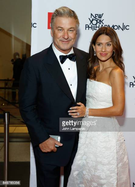 Alec Baldwin and Hilaria Baldwin attend New York Philharmonic 106 AllStars opening gala concert of New York's Orchestra at David Geffen Hall on...