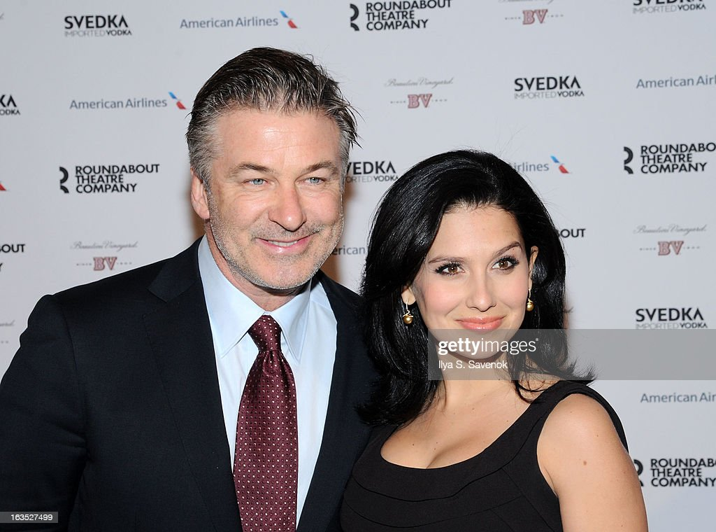 Alec Baldwin and Hilaria Baldwin attend the 2013 Roundabout Theatre Company Spring Gala at Hammerstein Ballroom on March 11, 2013 in New York City.
