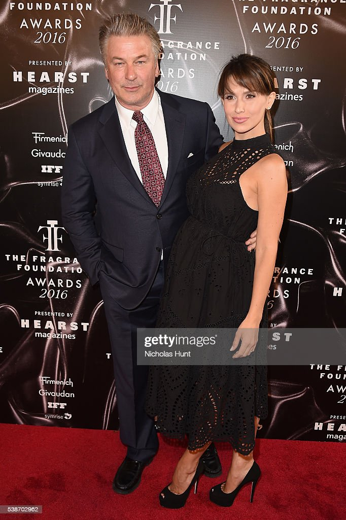 Alec Baldwin and Hilaria Baldwin attend the 2016 Fragrance Foundation Awards presented by Hearst Magazines on June 7 2016 in New York City