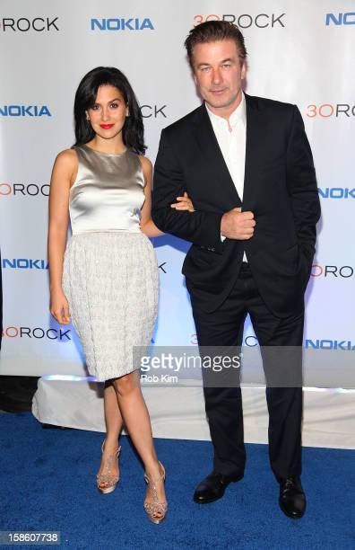 Alec Baldwin and Hilaria Baldwin attend the '30 Rock' final farewell wrap party at Capitale on December 20 2012 in New York City