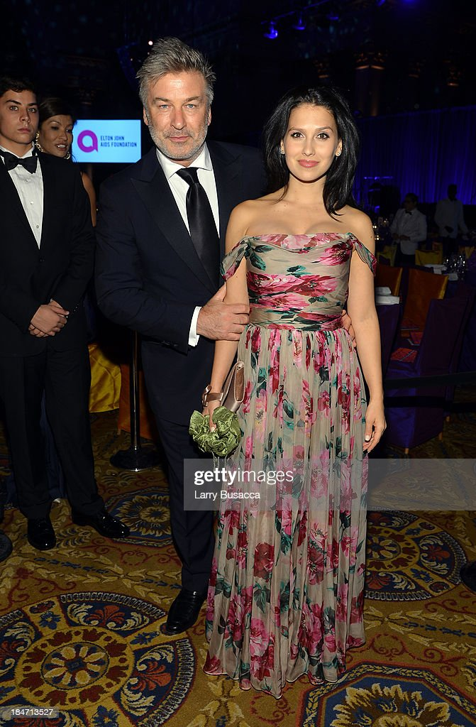 <a gi-track='captionPersonalityLinkClicked' href=/galleries/search?phrase=Alec+Baldwin&family=editorial&specificpeople=202864 ng-click='$event.stopPropagation()'>Alec Baldwin</a> and Hilaria Baldwin attend the Elton John AIDS Foundation's 12th Annual An Enduring Vision Benefit at Cipriani Wall Street on October 15, 2013 in New York City.