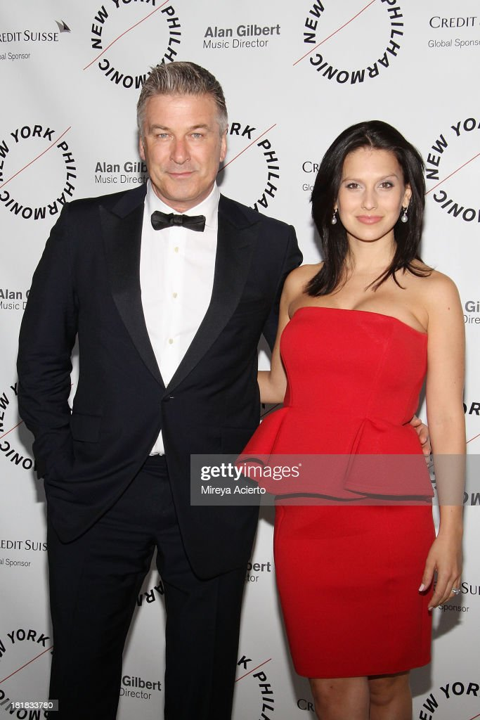 Alec Baldwin and Hilaria Baldwin attend the New York Philharmonic 172nd Season Opening Night Gala at Avery Fisher Hall Lincoln Center on September 25...