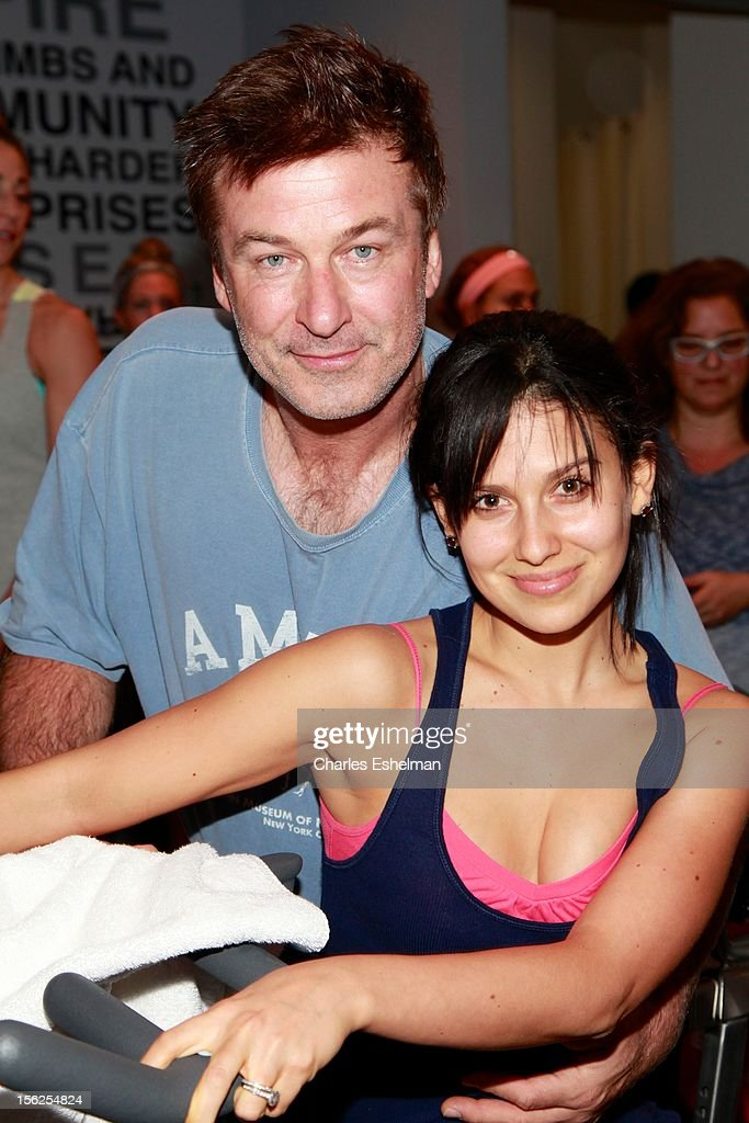 <a gi-track='captionPersonalityLinkClicked' href=/galleries/search?phrase=Alec+Baldwin&family=editorial&specificpeople=202864 ng-click='$event.stopPropagation()'>Alec Baldwin</a> and Hilaria Baldwin spin in SoulCycle's Soul Relief Rides at SoulCycle Tribeca on November 11, 2012 in New York City.