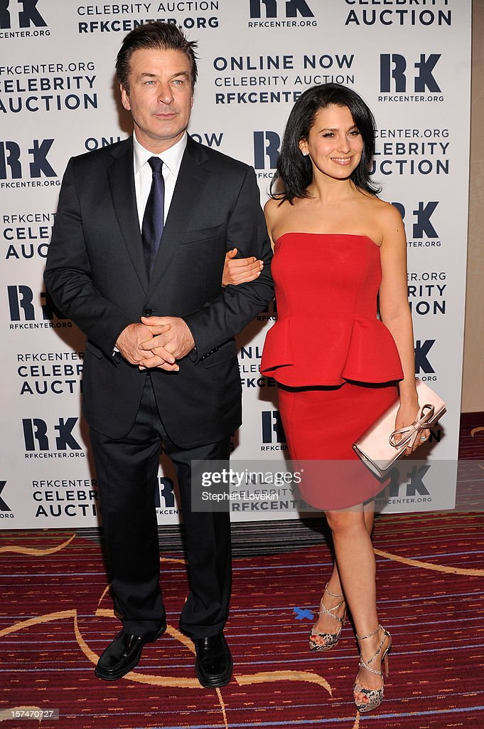Alec Baldwin (L) and Hilaria Thomas attend the 2012 Ripple Of Hope Gala at The New York Marriott Marquis on December 3, 2012 in New York City.