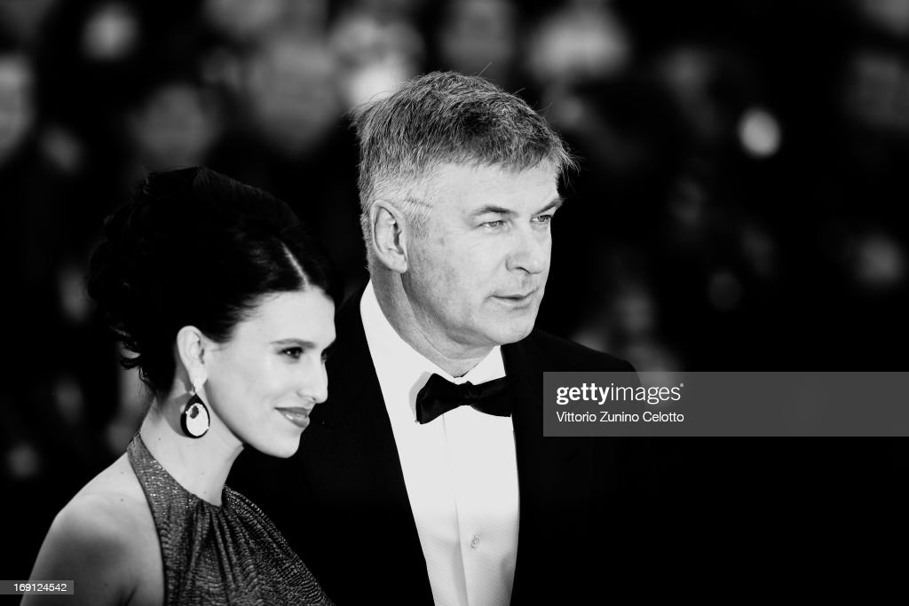 Alec Baldwin and Hilaria Thomas attend the 'Blood Ties' Premiere during the 66th Annual Cannes Film Festival at Grand Theatre Lumiere on May 20, 2013 in Cannes, France..