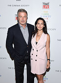 Alec Baldwin and Hilaria Thomas Baldwin attend the 'The Carol Burnett Show The Lost Episodes' screening hosted by Time Life and The Cinema Society at...