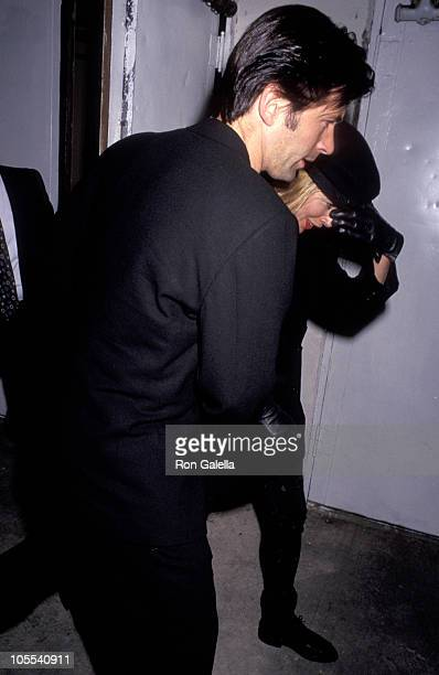 Alec Baldwin and Kim Basinger during 'Misery' Los Angeles Premiere at Mann's Village Theater in Westwood California United States