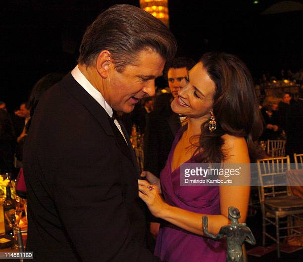 Alec Baldwin and Kristin Davis during 10th Annual Screen Actors Guild Awards Backstage and Audience at Shrine Auditorium in Los Angeles California...