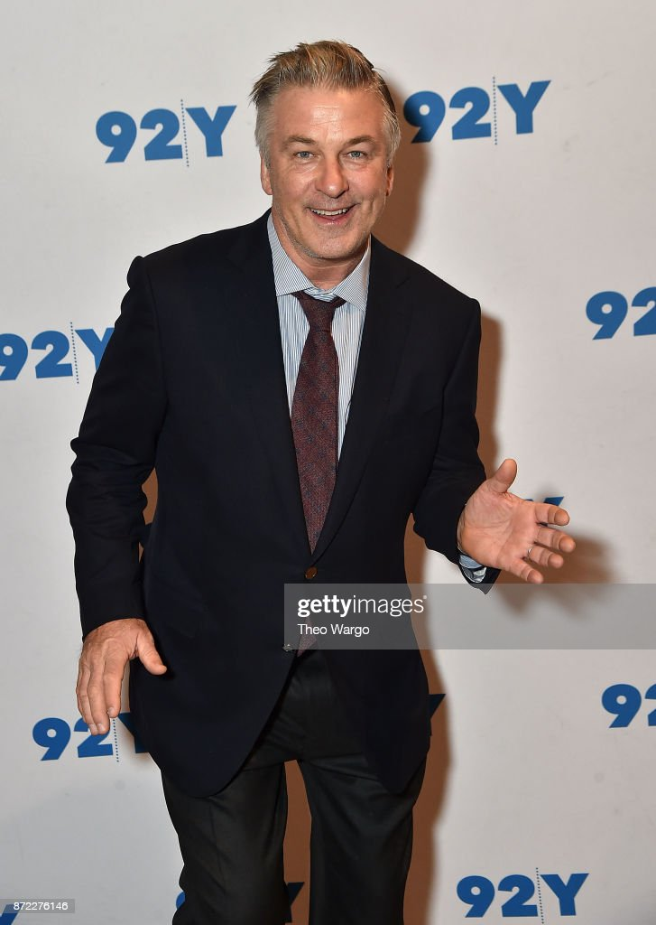 Alec Baldwin (pictured) and Kurt Andersen In Conversation With Brian Lehrer: 'You Can't Spell America Without Me' at 92nd Street Y on November 9, 2017 in New York City.