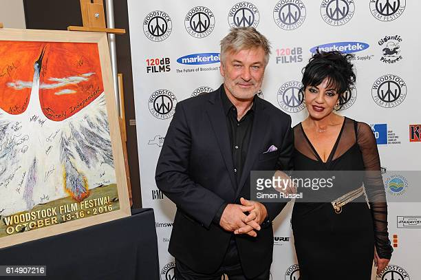 Alec Baldwin and Producer Kelly Rabadi attend the Blind premiere at the Woodstock Playhouse on October 13 2016 in Woodstock New York