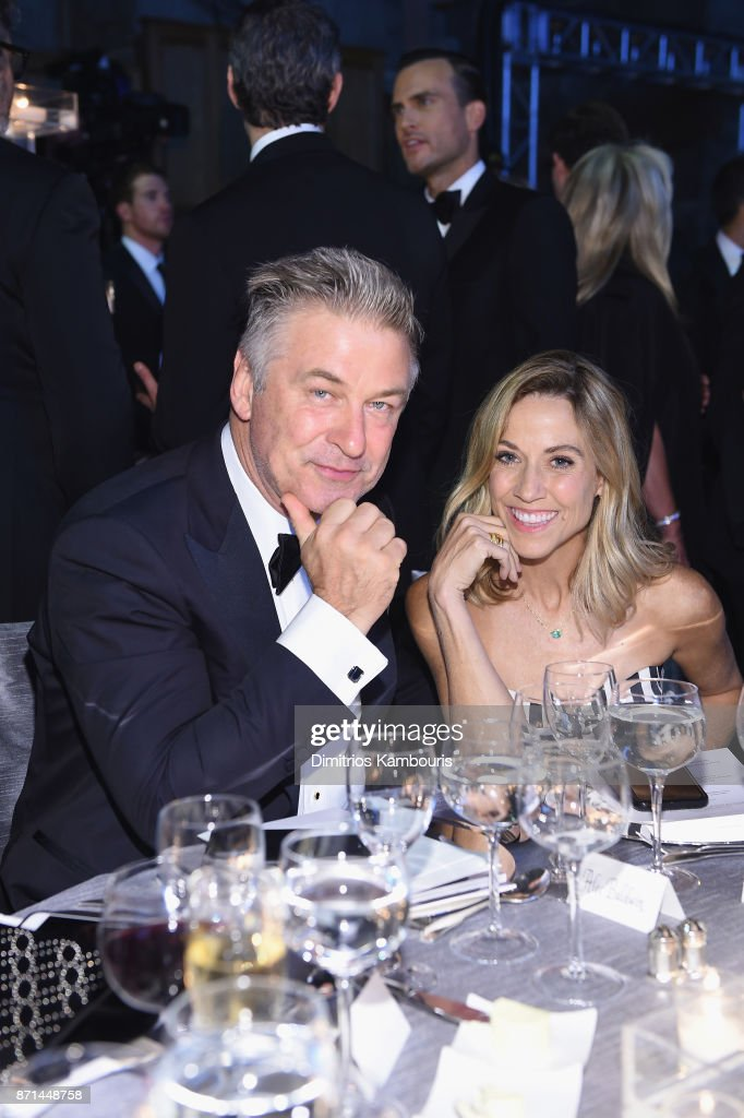 Alec Baldwin and Sheryl Crow attend the Elton John AIDS Foundation Commemorates Its 25th Year And Honors Founder Sir Elton John During New York Fall Gala at Cathedral of St. John the Divine on November 7, 2017 in New York City.