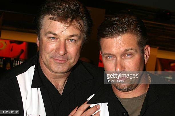 Alec Baldwin and Stephen Baldwin during Second Stage Theatre's 20th Annual AllStar Bowling Classic at Leisure Time Bowling Lanes in New York City New...