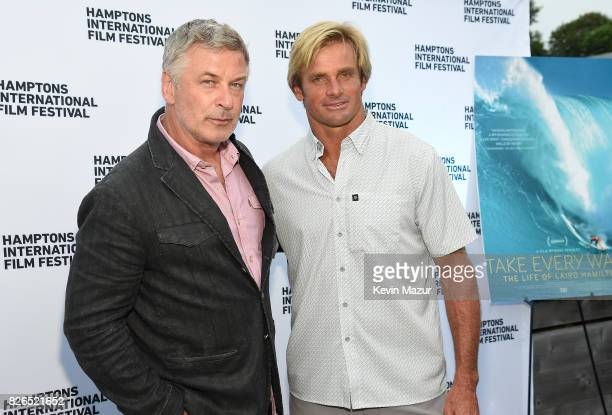 Alec Baldwin and Surfer Laird Hamilton attend The Hamptons International Film Festival SummerDocs Series Screening of TAKE EVERY WAVE THE LIFE OF...