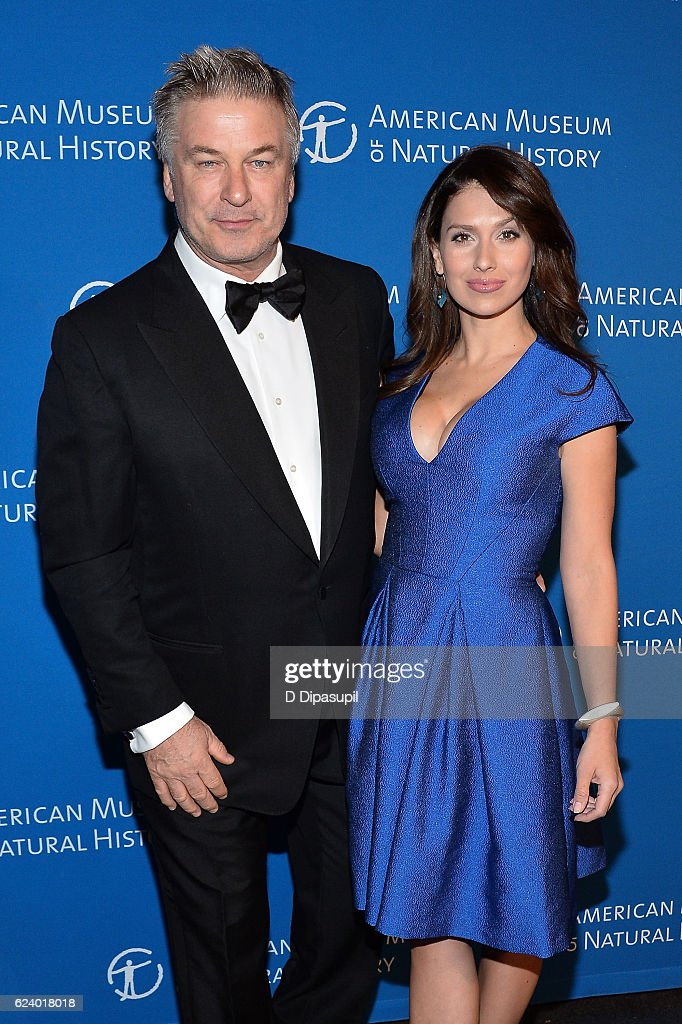 Alec Baldwin (L) and wife Hilaria Baldwin attend the 2016 American Museum of Natural History Museum Gala at the American Museum of Natural History on November 17, 2016 in New York City.