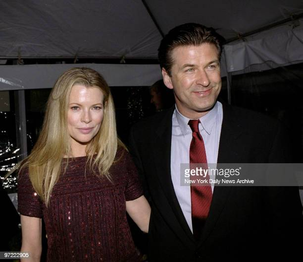 Alec Baldwin and wife Kim Basinger at the Premiere Party for the movie 'I Dreamed Of Africa' held at t the Tavern On The Green