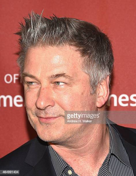 Alec Baldwin attend the Roundabout Theatre Company's 2015 Spring Gala at the Grand Ballroom at The Waldorf=Astoria on March 2 2015 in New York City