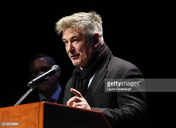 Alec Baldwin attends 2016 John Jay Medal for Justice Award at Gerald W Lynch Theater at John Jay College of Criminal Justice on March 3 2016 in New...