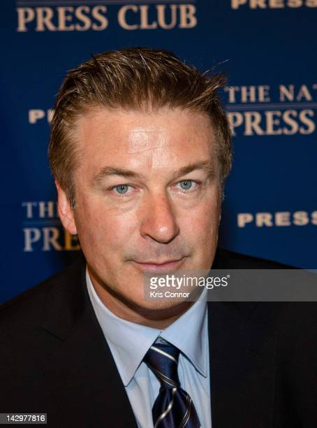 Alec Baldwin attends a Newsmaker luncheon address on art and politics at the National Press Club on April 16 2012 in Washington DC