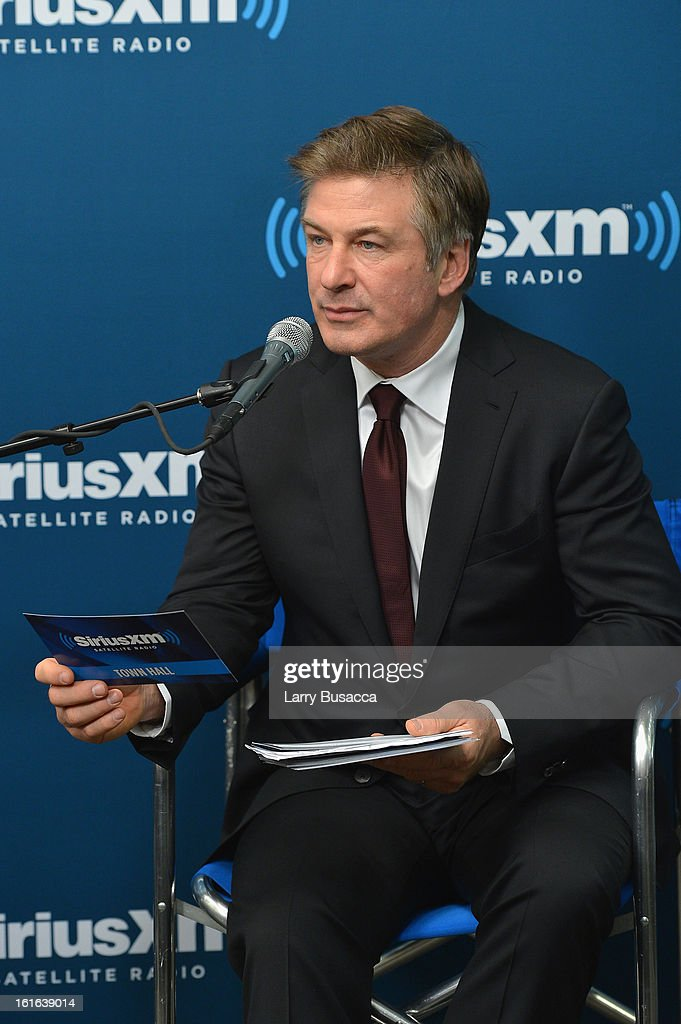 Alec Baldwin attends 'SiriusXM's Town Hall with Tony Bennett' and Moderator Alec Baldwin at SiriusXM Studio on February 13, 2013 in New York City.