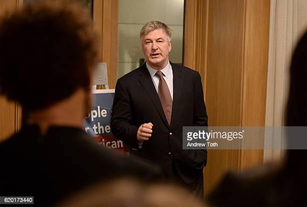 Alec Baldwin attends the Get Out The Vote celebration for People For The American Way on November 1 2016 in New York City