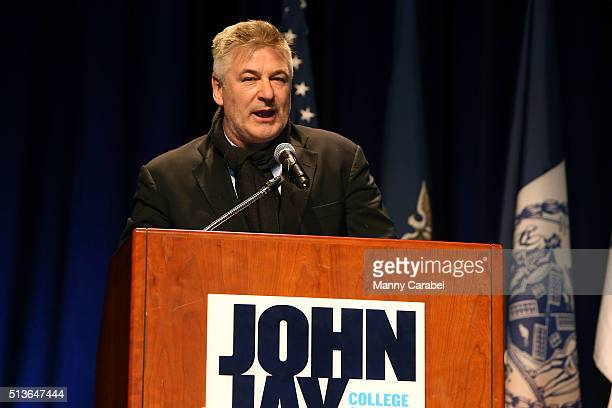 Alec Baldwin attends the John Jay Medal for Justice Awards Ceremony at Gerald W Lynch Theater on March 3 2016 in New York City