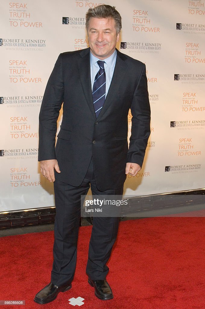 Alec Baldwin attends the 'Robert F Kennedy Center For Justice Human Rights Bridge Dedication Gala' at Pier 60 in New York City