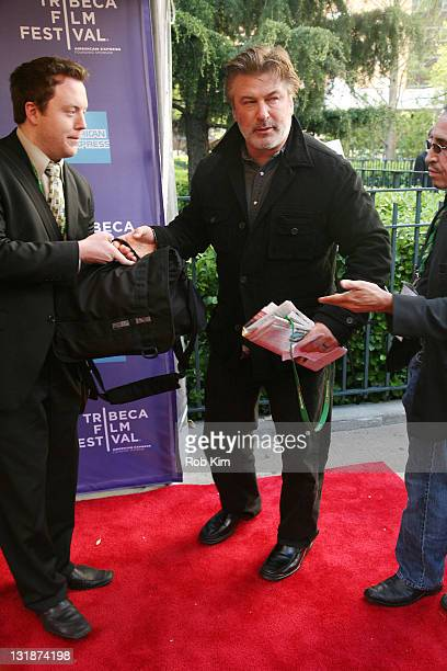 Alec Baldwin attends the Tribeca Talks Director Series with Doug Liman and Alec Baldwin during the 10th annual Tribeca Film Festival at SVA Theater...