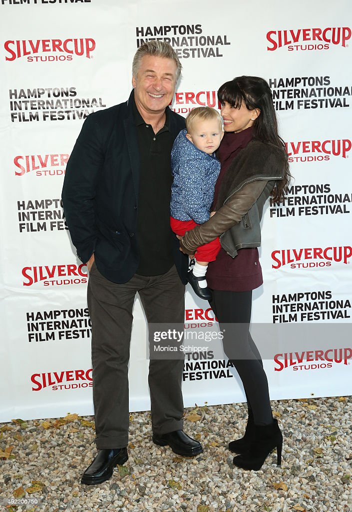 Alec Baldwin, Carmen Gabriela Baldwin and Hilaria Baldwin attend the Chairman's Reception during Day 3 of the 23rd Annual Hamptons International Film Festival on October 10, 2015 in East Hampton, New York.