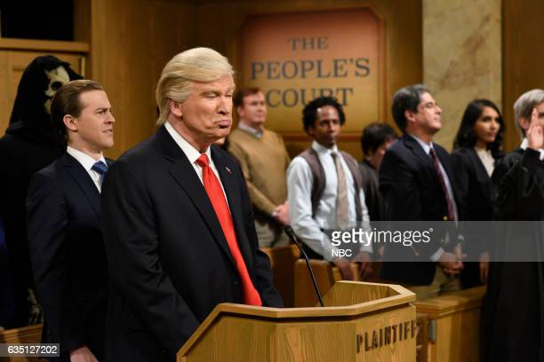 LIVE 'Alec Baldwin' Episode 1718 Pictured Alex Moffat as Eric Trump Alec Baldwin as President Donald Trump during the 'Trump People's Court' sketch...