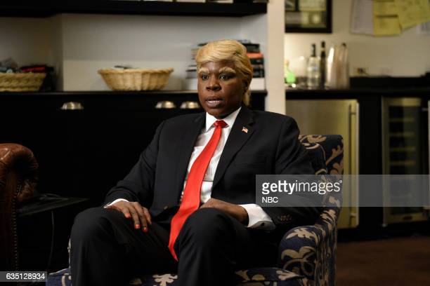 LIVE 'Alec Baldwin' Episode 1718 Pictured Leslie Jones during the 'Leslie Wants to Play Trump' sketch on February 10 2017