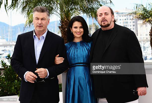 Alec Baldwin Hilaria Baldwin and director James Toback attend the photocall for 'Seduced and Abandoned' during The 66th Annual Cannes Film Festival...