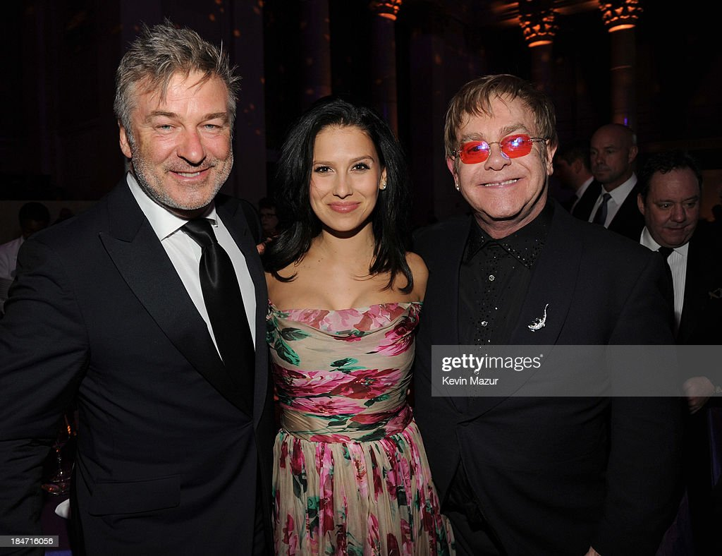 <a gi-track='captionPersonalityLinkClicked' href=/galleries/search?phrase=Alec+Baldwin&family=editorial&specificpeople=202864 ng-click='$event.stopPropagation()'>Alec Baldwin</a>, <a gi-track='captionPersonalityLinkClicked' href=/galleries/search?phrase=Hilaria+Baldwin&family=editorial&specificpeople=7856471 ng-click='$event.stopPropagation()'>Hilaria Baldwin</a> and <a gi-track='captionPersonalityLinkClicked' href=/galleries/search?phrase=Elton+John&family=editorial&specificpeople=171369 ng-click='$event.stopPropagation()'>Elton John</a> attend the <a gi-track='captionPersonalityLinkClicked' href=/galleries/search?phrase=Elton+John&family=editorial&specificpeople=171369 ng-click='$event.stopPropagation()'>Elton John</a> AIDS Foundation's 12th Annual An Enduring Vision Benefit at Cipriani Wall Street on October 15, 2013 in New York City.
