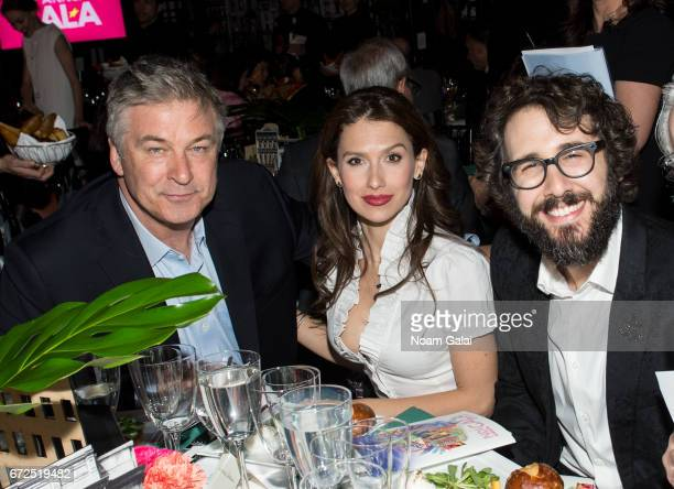 Alec Baldwin Hilaria Baldwin and Josh Groban attend the National Dance Institute Annual Gala at PlayStation Theater on April 24 2017 in New York City