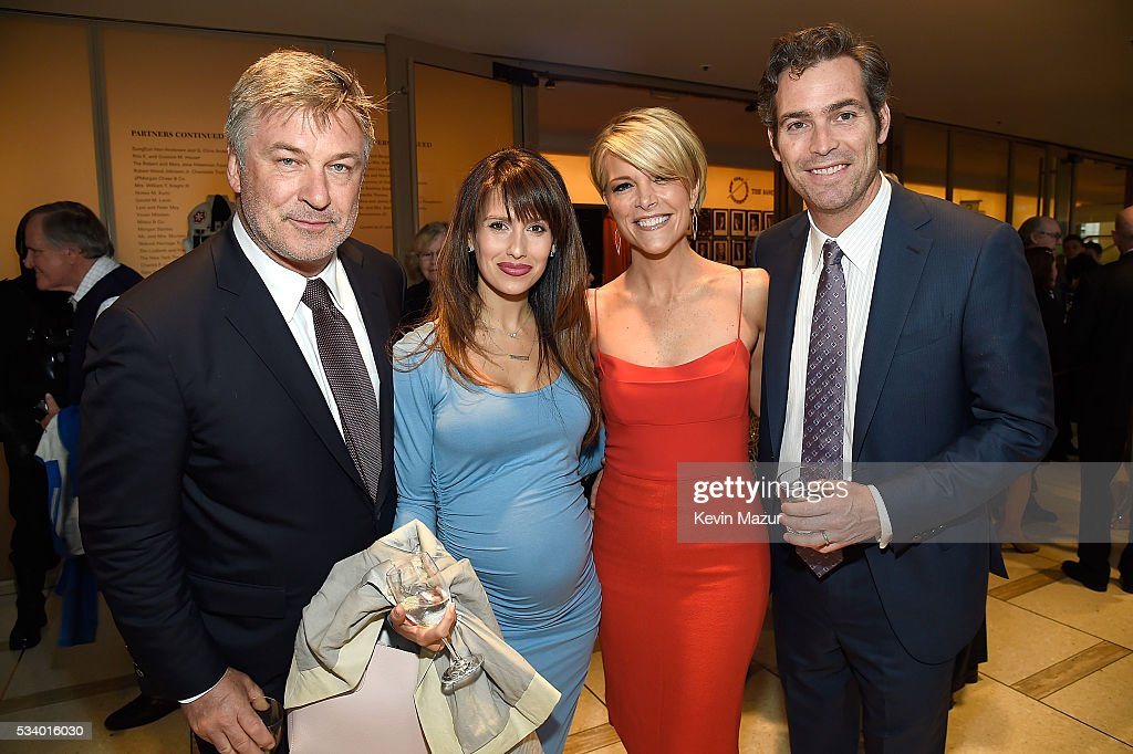 Alec Baldwin, Hilaria Thomas Baldwin, Megyn Kelly and Douglas Brunt attend New York Philharmonic's Spring Gala, A John Williams Celebration at David Geffen Hall on May 24, 2016 in New York City.
