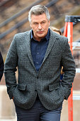 Alec Baldwin is seen on film set of 'Still Alice' on March 5 2014 in New York City