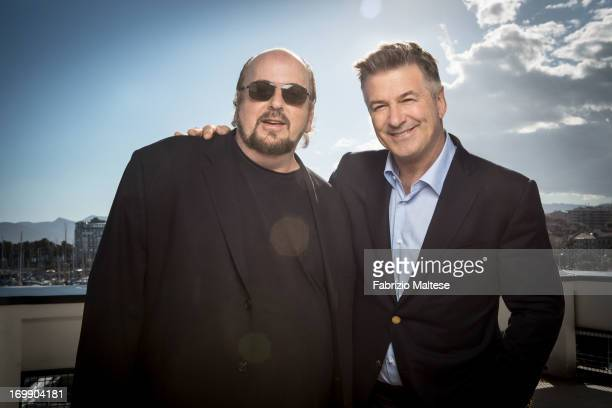 Alec Baldwin James Toback are photographed for The Hollywood Reporter on May 20 2013 in Cannes France