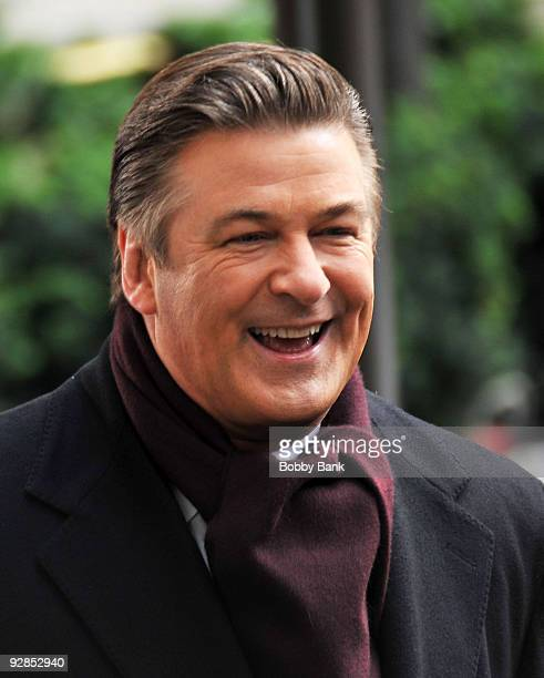 Alec Baldwin on location for '30 Rock' on the streets of Manhattan on November 5 2009 in New York City