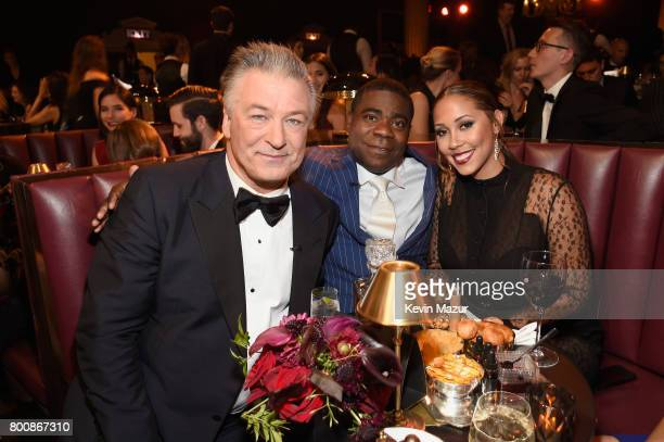 Alec Baldwin Tracy Morgan and Megan Wollover attend 'Spike's One Night Only Alec Baldwin' at The Apollo Theater on June 25 2017 in New York City
