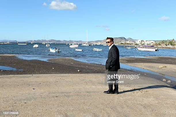 Alec Baldwin visits La Paz Mexico and takes a tour of the Baja coastline on September 30 2012 in La Paz Mexico