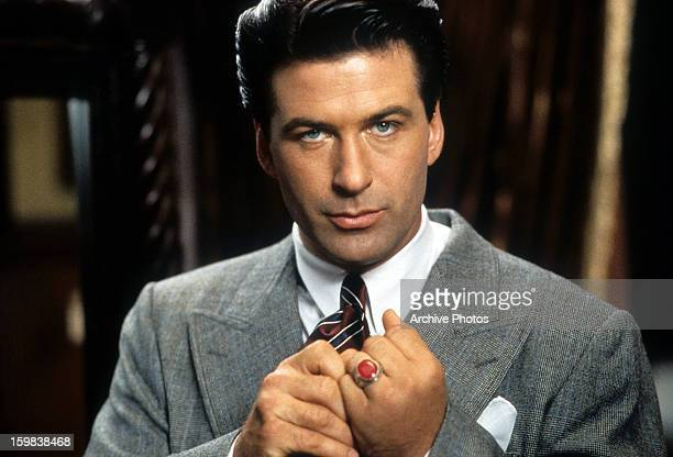 Alec Baldwin with a red ring on his finger in a scene from the film 'The Shadow' 1994