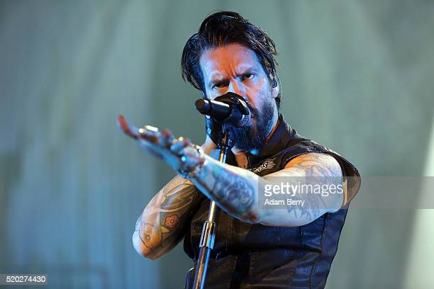 Alec 'Boss Burns' Voelkel of The Boss Hoss performs during a concert at MaxSchmelingHalle on April 10 2016 in Berlin Germany